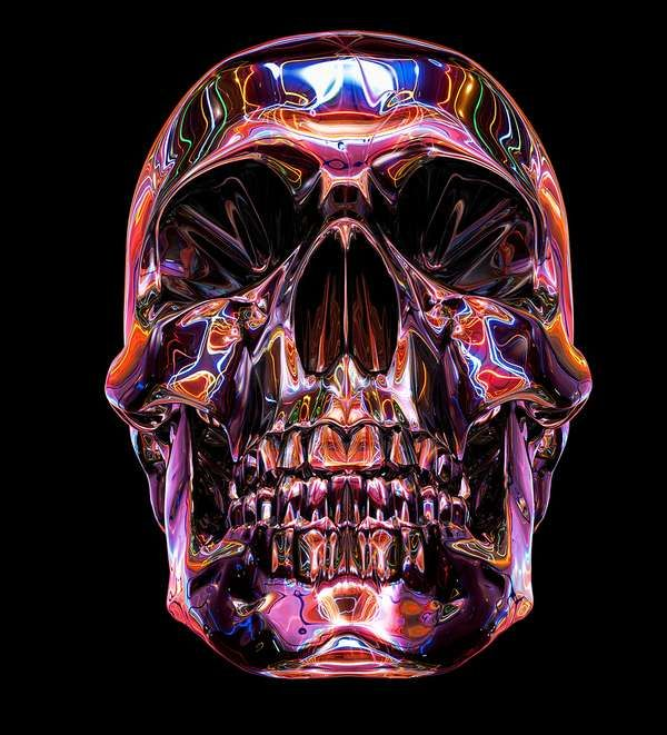 Like Minded Studio's 'Neon Dreams' is Colorfully Creative #skulls #skullart