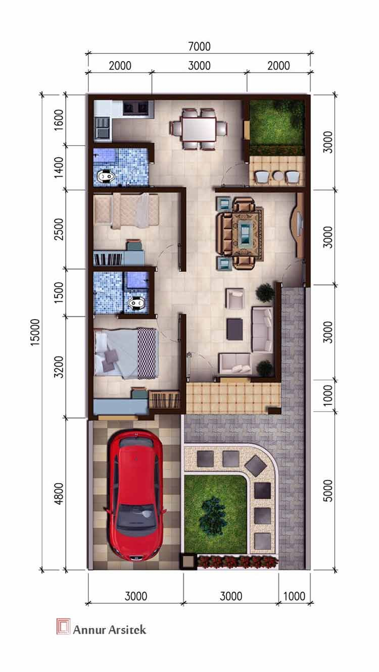 Desain Rumah Type 45 Luas Tanah 80 Cek Bahan Bangunan