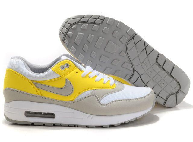 best sneakers bd7a6 4380a White Gray Gul Nike Air Max 87 Sko Herrer 60844