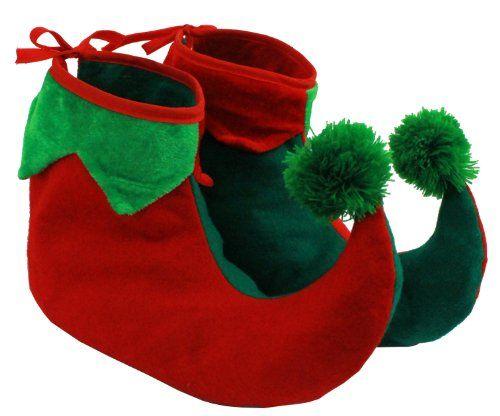 SANTA LITTLE HELPER ELF GREEN FELT BOOTS JINGLE BELLS PIXIE BOOTS ELF BOOTS