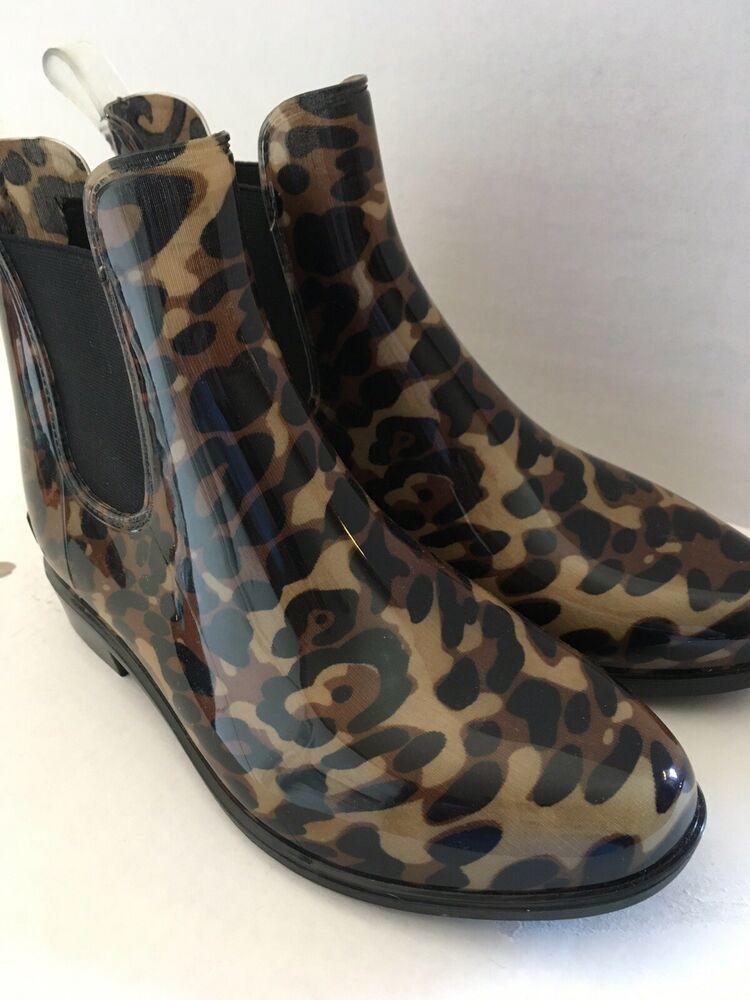 Rainboots Leopard Brown Black Multi