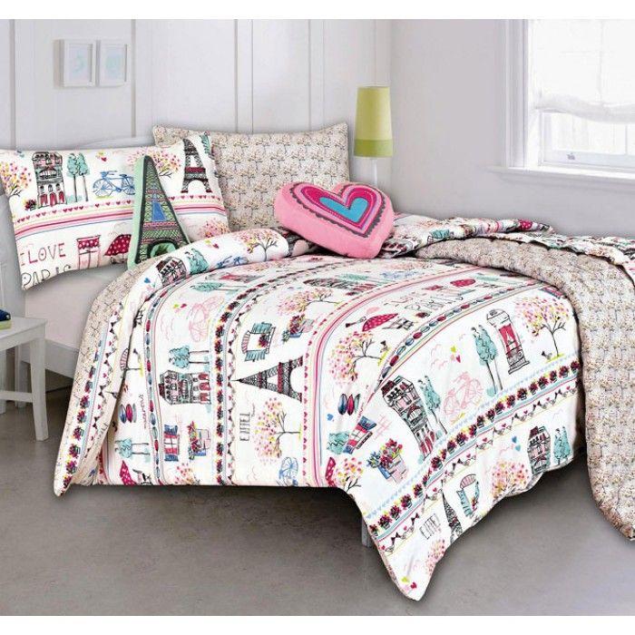 Paris Queen Bedding Sets Paris Quilt Cover Set With