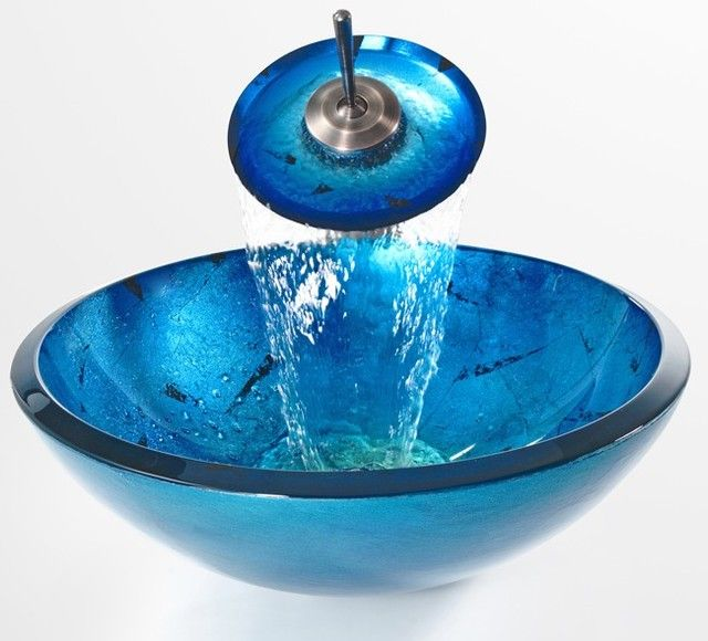 Cool Bathroom Sinkskraus C Gv 204 19mm 10 Galaxy Blue 19mm Glass