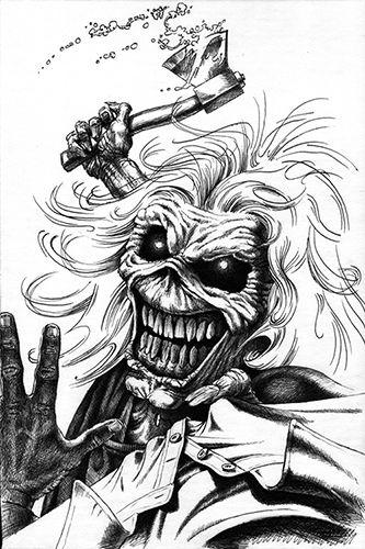 Derek S B W Eddies Iron Maiden Eddie Iron Maiden Posters Iron Maiden Albums