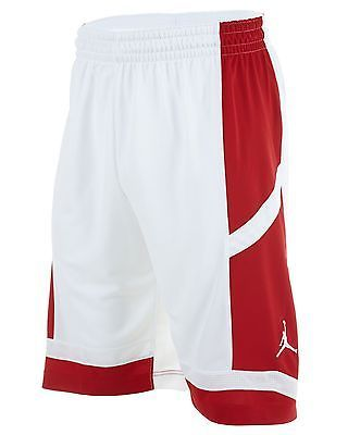 89ae356afb0799 Nike Jordan Prime. Fly Game White Red Basketball Shorts 547627-101 Mens  Size L