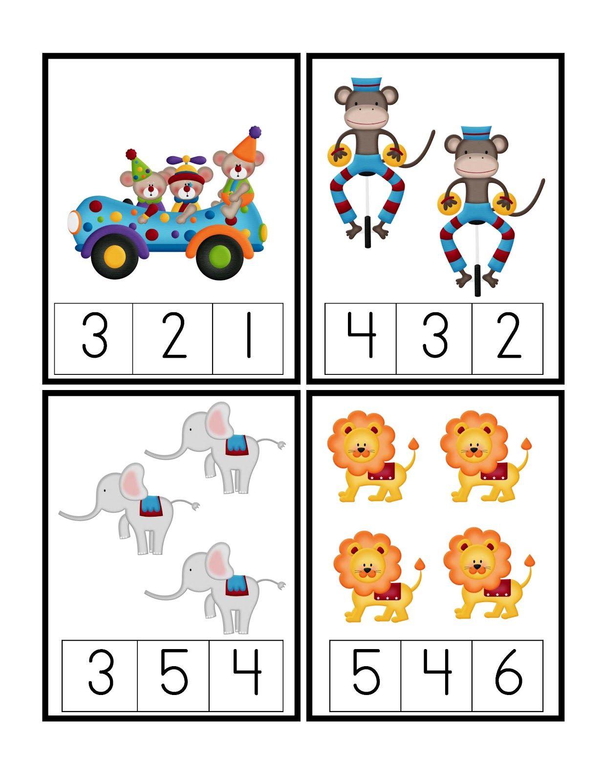 Preschool Printables Under The Big Top Printable