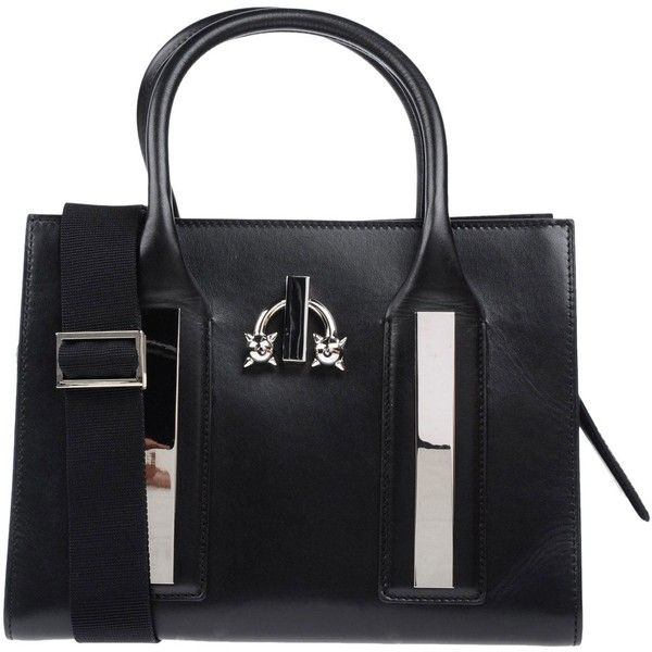 Dsquared2 Handbag 1 350 Liked On Polyvore Featuring Bags Handbags Black Leather Man Bagsstudded