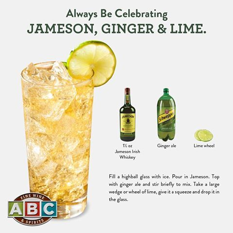 Jameson ginger lime whiskey lovers pinterest limes for Mixed drink with jameson