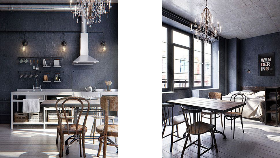 Un mini piso tipo loft de estilo industrial | Canela y Naranja ...