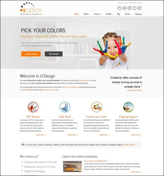 60 of the Best Corporate and Business WordPress Themes