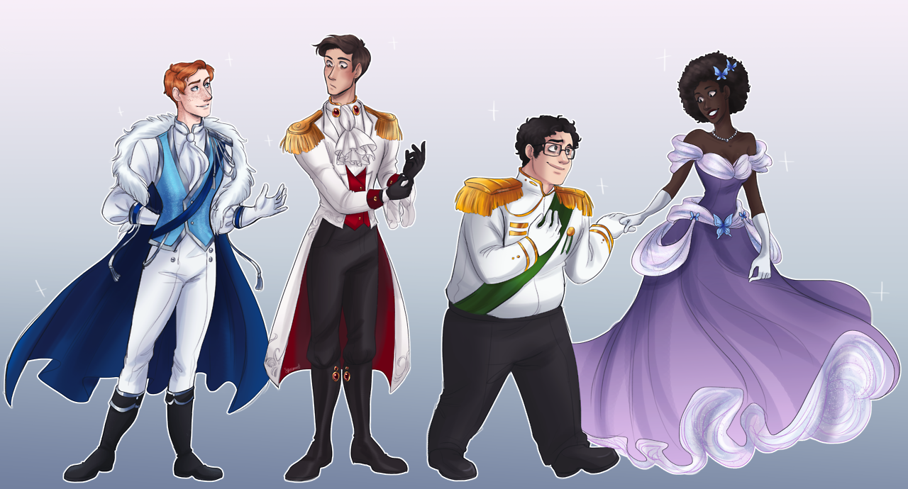 {Full View, Please!} The Fairytale!AU that no one asked for but I desperately wanted to do :') I didn't give any of them crowns because they just looked kinda weird…? With them on? Also yes,...