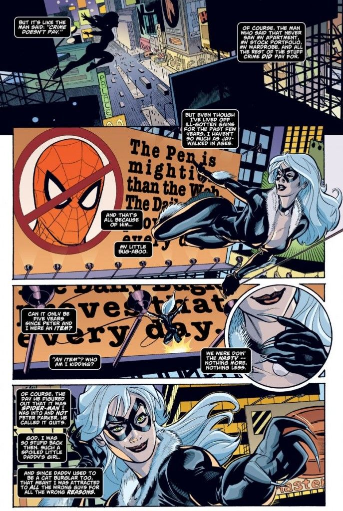 Black Cat recalls her romantic past with Spider-Man in Spider-Man/Black Cat: The Evil That Men Do