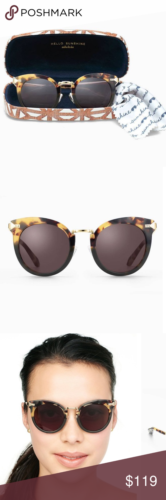 6a29f3a4c4a 🆕Wesley Sunglasses Add a dash of summer glam with these cat eye tortoise  sunglasses with