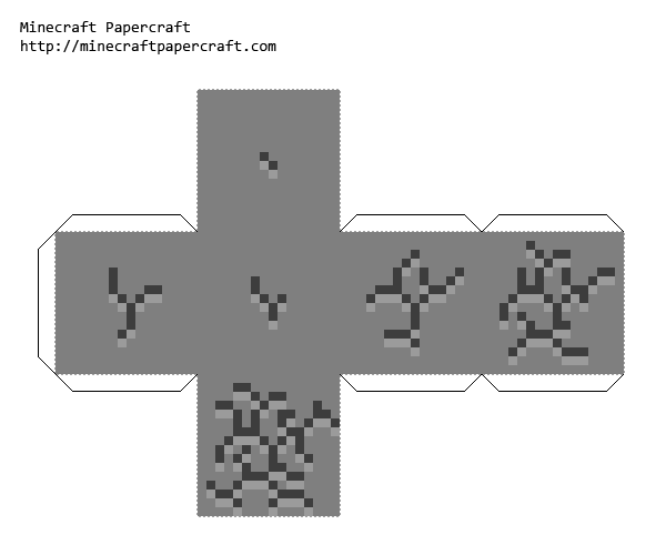 Papercraft Breaking Block Minecraft Printables Minecraft Crafts Paper Crafts