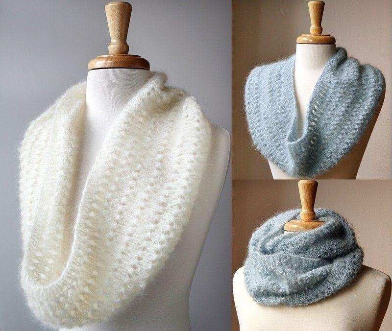 Snood Knitting Pattern - Genevieve Cowl Neckwarmer Scarf ...
