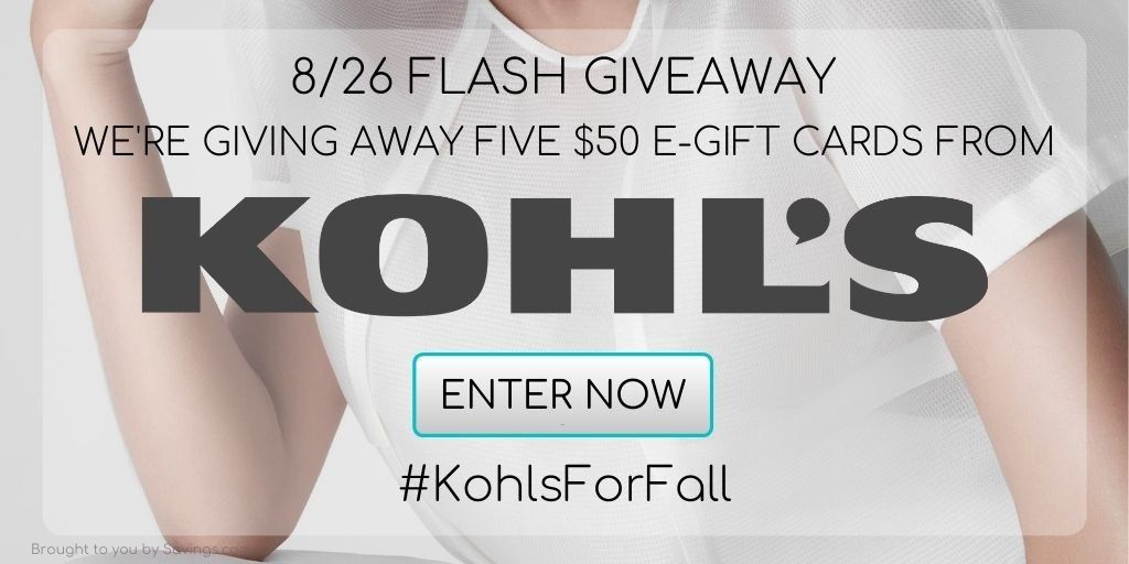 Giveaway Enter To Win A 100 Kohls Gift Card 5 Winners Mystylespot Egift Card Gift Card Giveaway