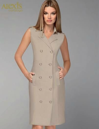 b40cd86d38 11 imágenes de vestidos para oficina (3) Más
