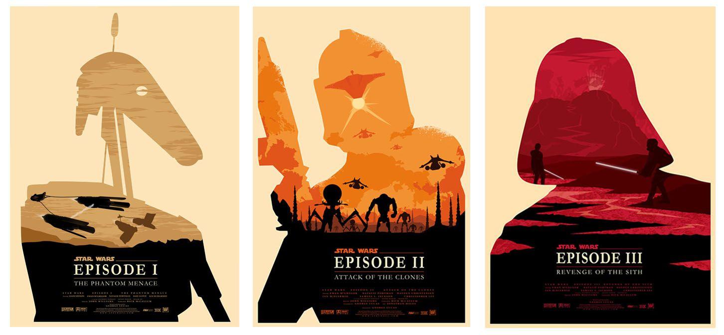 STAR WARS Episodes 1-3 Alternative Minimal Movie Posters