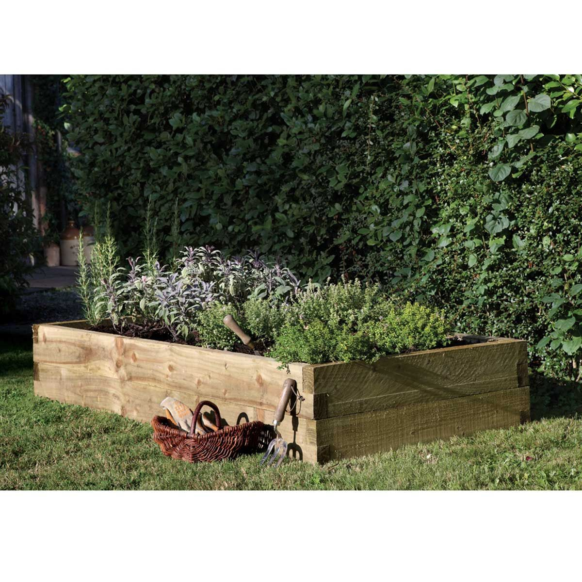 Forest Garden Caledonian Raised Bed 180 x 90cm | Notcutts | Notcutts ...