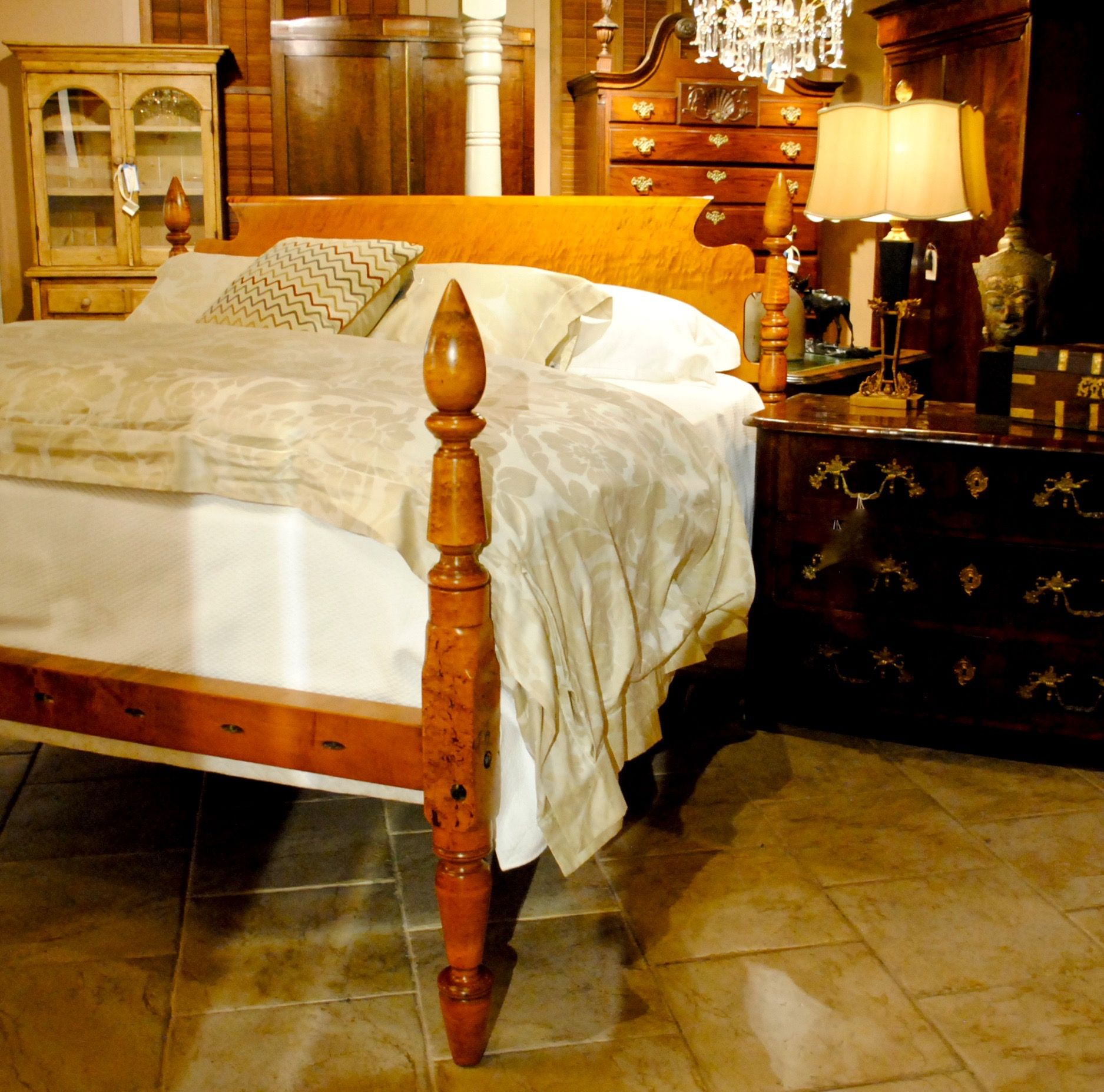 King Bed With Posts Outstanding Antique Turnip Top Bed Resized To King Heavy Tiger