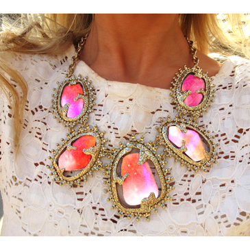 Wish I could find where this is from and if it's photoshopped or not! -- beautiful pink necklace