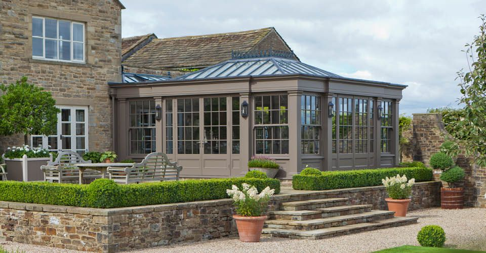 Beautiful orangery addition blends seamlessly with this ...