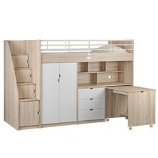 Curtis King Single Bunk Bed Workstation Freedom Furniture And
