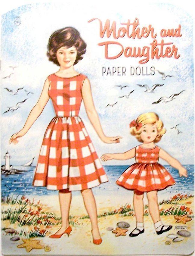 Mother Daughter Paper Dolls 1950s or 60s Saalfield ARTCRAFT Uncut USA | eBay