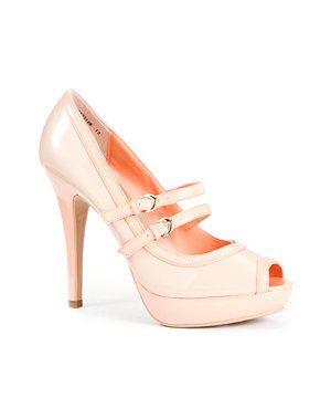 Contrast Peep Toe Court Shoes