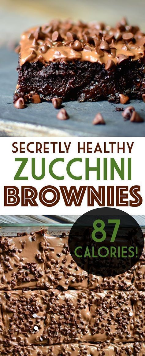 Secretly Healthy 87 Calorie Brownies! is part of Healthy zucchini brownies - Have you ever wished you could have a huge, rich gooey brownie for under 100 calories  Well now you can with these zucchini brownies!
