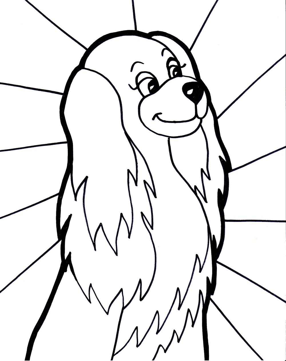 Girl Dog Coloring Page | Dog | Pinterest | Craft
