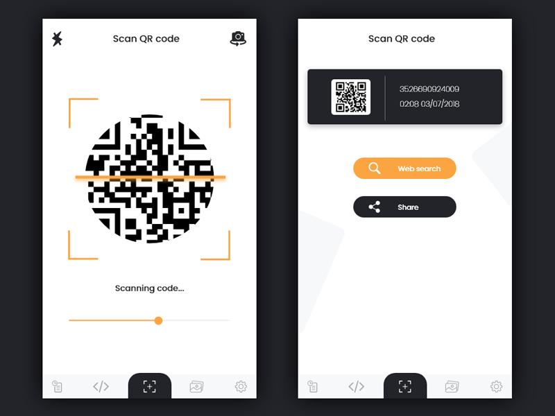 Scan Qr Code 1 Qr Code Coding App Design