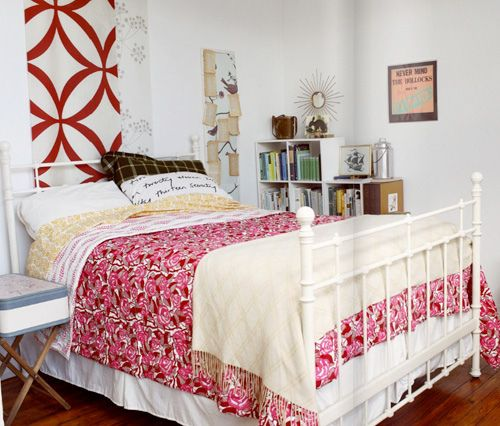 Great bed frame and bedspread