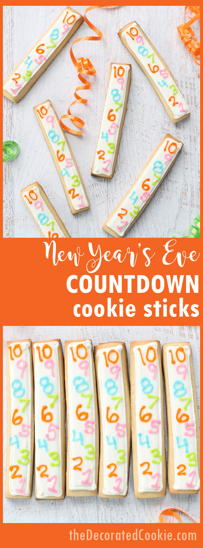 New Years Eve countdown cookie sticks and other treats from the archives