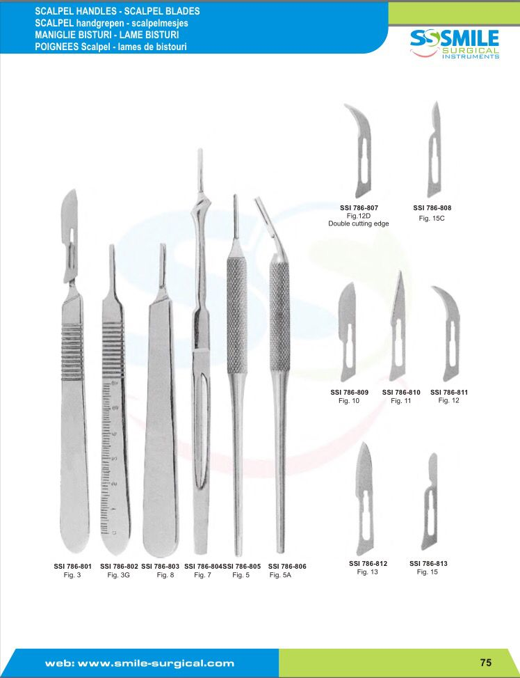 All Types Of Scalpel Handles Are Available Smile Surgical Instruments Is Leading Manufacturer And Exporter Of B Surgical Instruments Scalpel Led Manufacturers