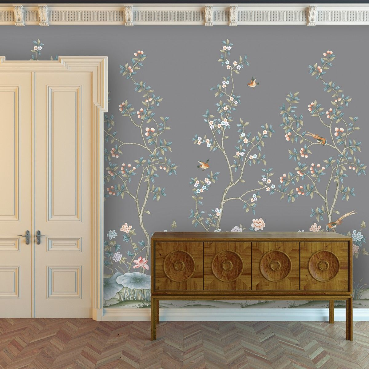 CHINOISERIE Lilly Storm Chinoiserie by Tempaper details 4