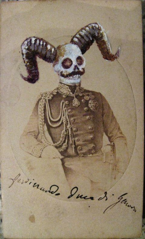 gothic skull art