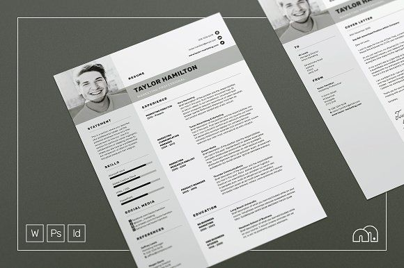 Resume CV - Taylor by bilmaw creative on @mywpthemes_xyz Best - free cover letter templates for resumes
