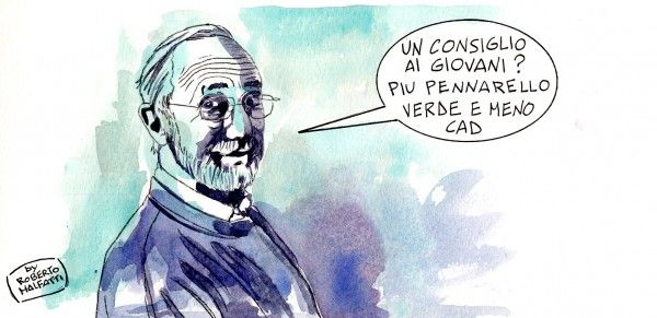 #quote #illustration || 'advice for young people: more green marker and less CAD!' Renzo Piano by Roberto Malfatti