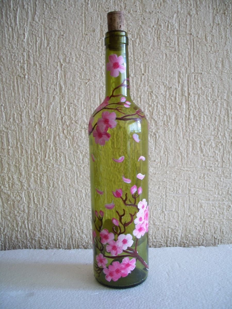 Vasos de vidrio decorados para baby shower buscar con - Manualidades con botellas de cristal ...