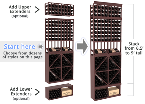 Wine Cellar Racks By Instacellar Build Your Own Wine Rack System