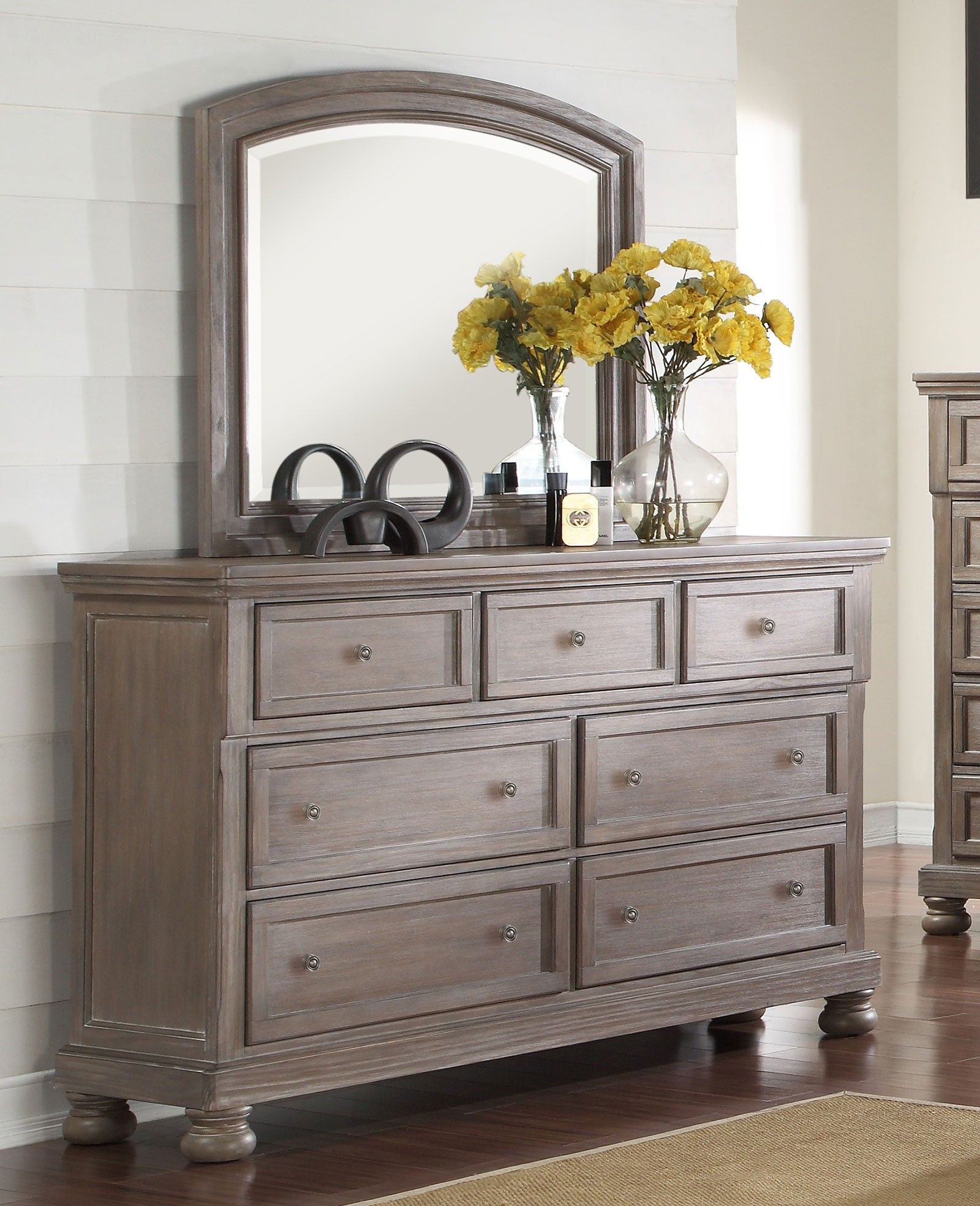Pewter Bedroom Furniture New Classic Furniture Allegra Dresser In Pewter B2159 050