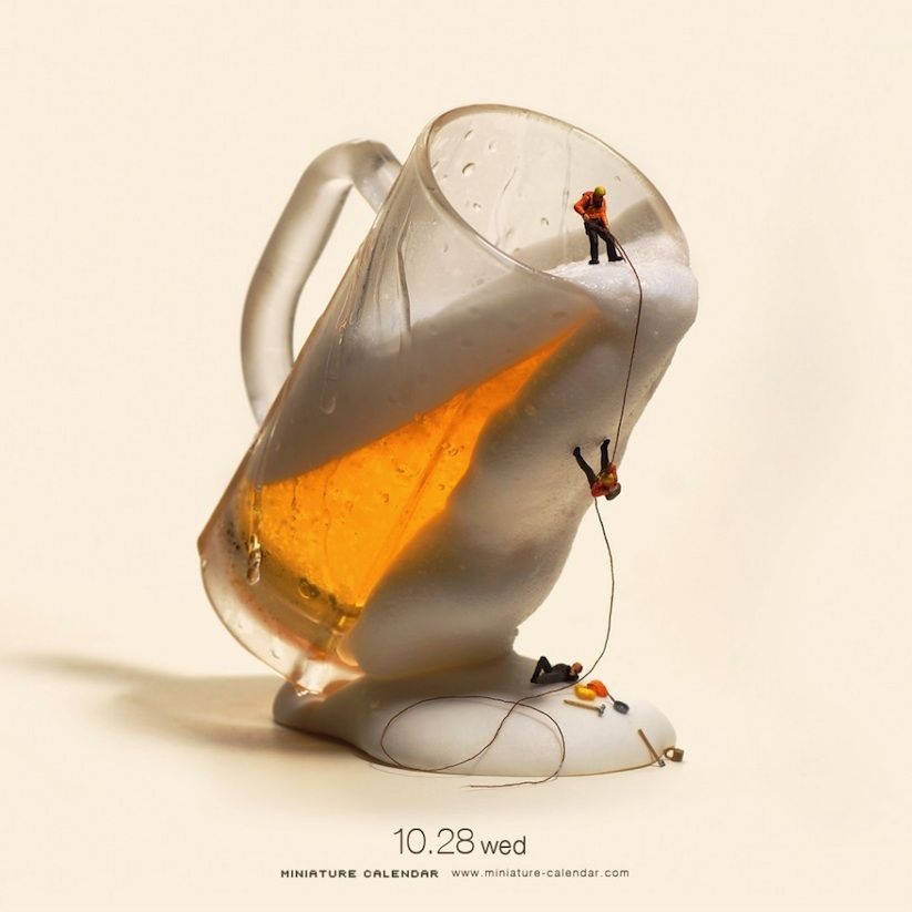 "Dollhouse Photography Calendar : ""miniature calendar"" new artworks from tatsuya tanaka s"