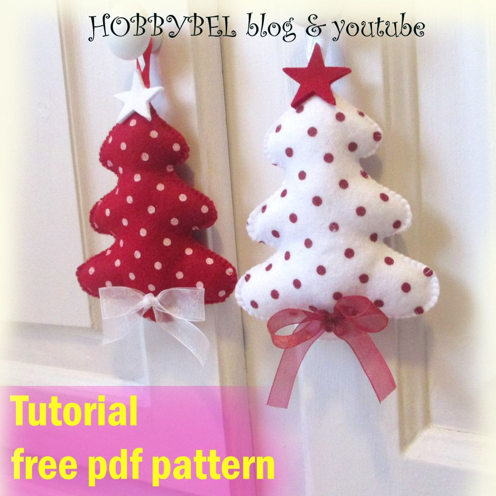 Decorazioni Natalizie In Feltro.Tutorial Decorazioni Natalizie Feltro E Pannolenci Cartamodello Gratis Cucito Creativo Felt Craft For Chr Decorazioni Di Natale Natale Decorazioni Natalizie