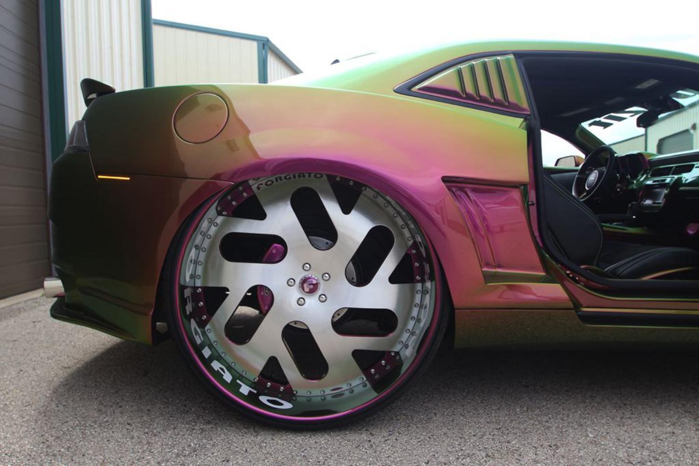 "Chameleon Camaro on 30"" Foargiato Wheels Car, Chevrolet"