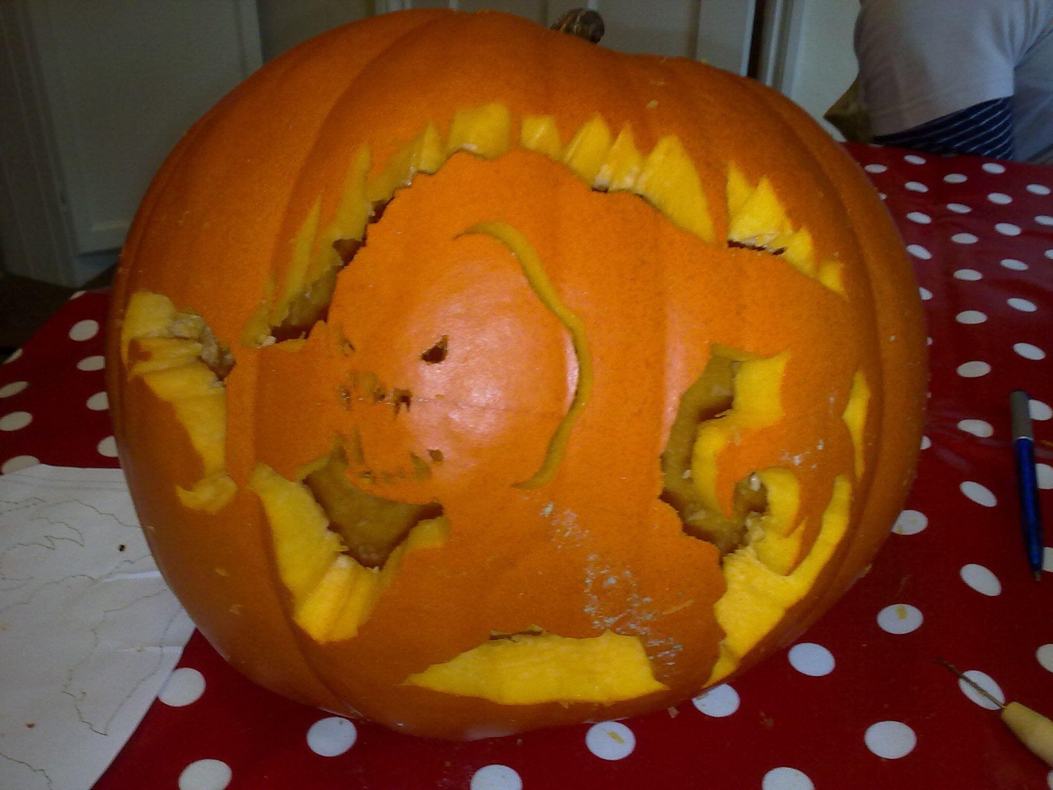 Rancor Pumpkin Made For Amy, A Star Wars Fan Design