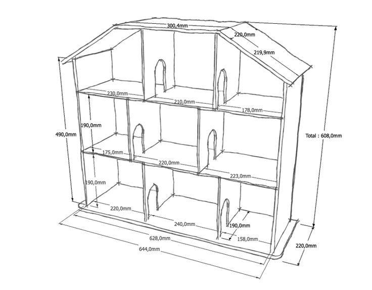 Afbeeldingsresultaat voor maison de poupée plans Dollhouse etc
