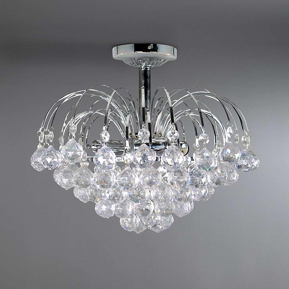 Elegant Designs Elipse 13 In 2 Light Chrome And Crystal Flush Mount In 2021 Flush Mount Ceiling Lights Crystal Light Fixture Ceiling Lights