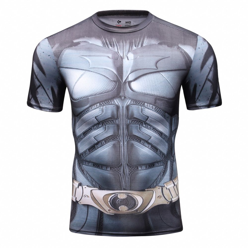 COOLMAX Muscle-Man Compression Shirt Short Sleeve 3D Print T-Shirt for Mens Tee