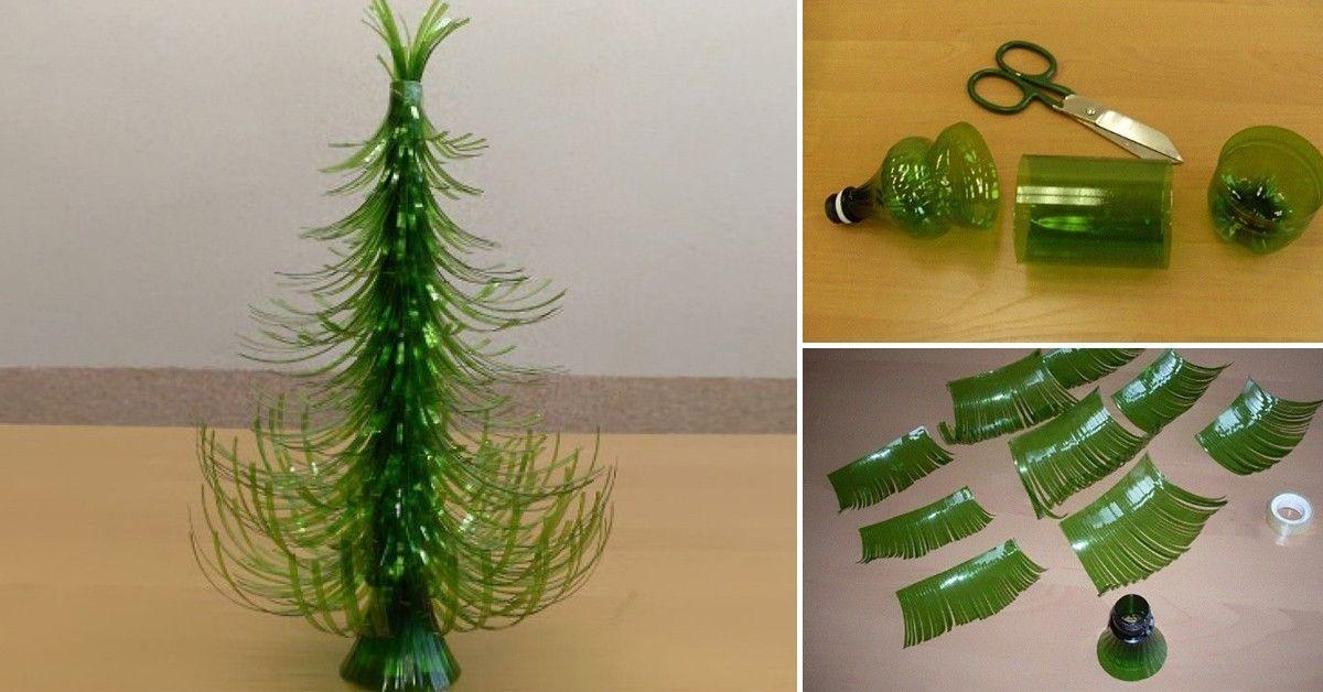 Aprende a hacer un árbol de navidad sustentable para las fiestas reciclando envases vacíos.